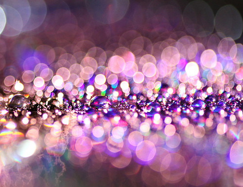 ???, ????, ?????, beauty, blur, bokeh, bubbles, colour, glitter, glitter specks, light, lights, photography, pretty, purple, rainbow, sparkle, water