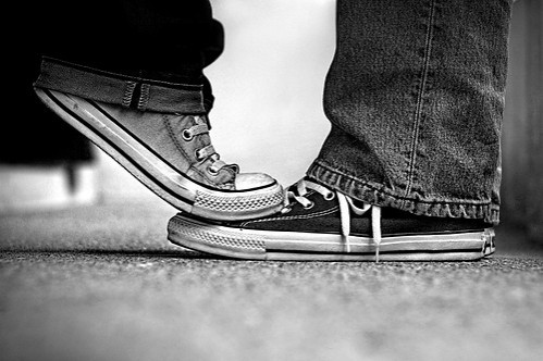 black and white, boy, chucks, converse, couple, favorites