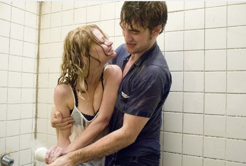 blonde, couple, cute, love, lovers, pattinson