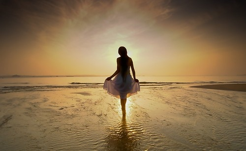 beach, beautiful, beauty, dawn of a new day, girl, light, ocean, ocean girl, photography, sea, seaside, sky, sunset, sunshine, sunshine angel, water, wedding, woman