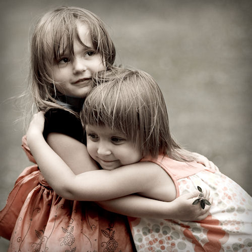 best friends, bff, cute, delicate, girls, hug, innocence, kids, sisters, twins