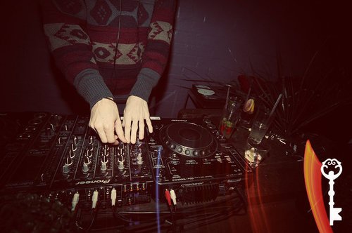 decks, dj, jumper, peng jumper, photography, sweater, vintage