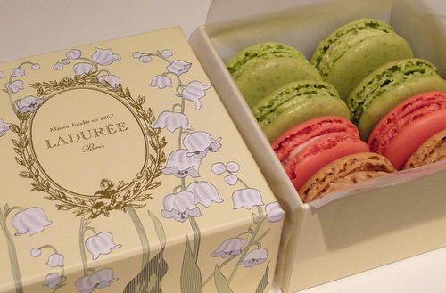 cookies, cute, flowers, food, laduree, macarons