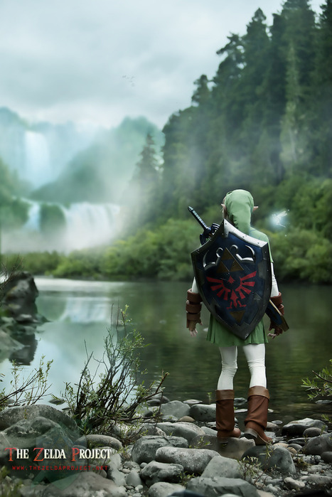 cosplay, elf, forest, game, link, the zelda project