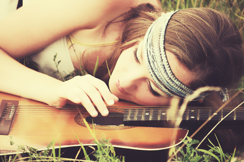 folk, girl, gitar, guitar, model, pretty
