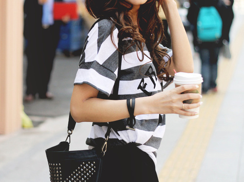 casual, coffee, fashion, girl, model, starbucks