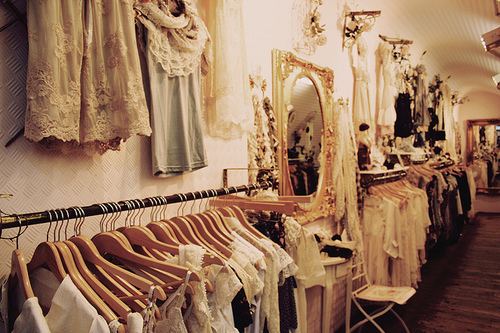 clothes, lace, pretty, store, vintage