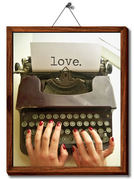 hands, lacquer, love, nail polish, sheswai, typewriter