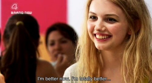 cassie, cute, lies, quote, skins, subtitle
