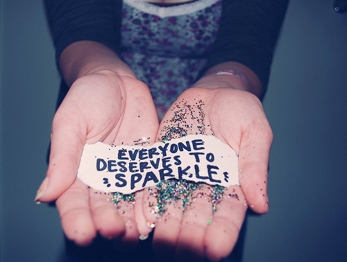 cute, fashion, girl, glitter, hands, quote, sparkle