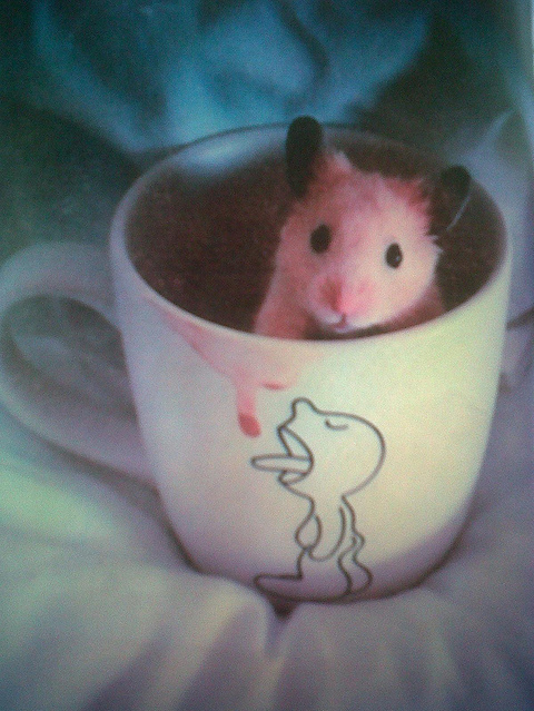 animal, cute, hamster, mug, sachimiko