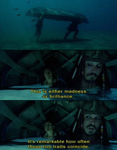 boat, jack sparrow, johnny depp, madness, movie, ocean