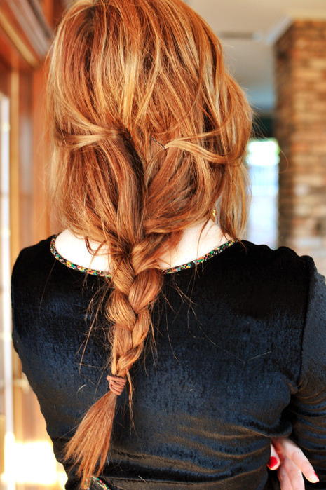 braid, cute, fashion, girl, hair, long hair