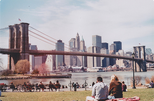 brooklyn, brooklyn bridge, manhattan, meadow, new york, skyline