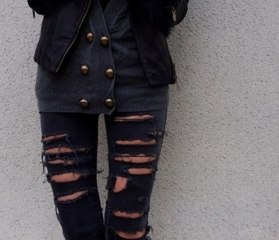 cute, denim, fashion, girl, jeans, leather jacket