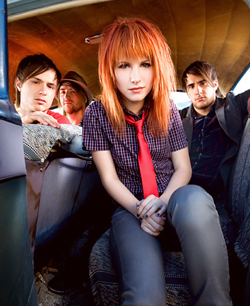 band, car, hair, hayley, hayley williams, jeremy, jeremy davis, josh, josh farro, music, paramore, redhead, tie, vocalist, zac, zac farro