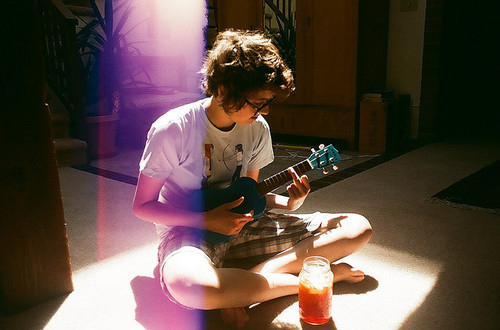 boy, cute, glasses, light, morning, sunshine