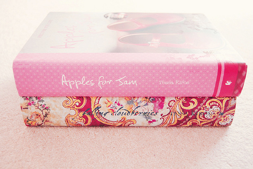 apples for sam, book, books, cute, falling cloudberries, photography, pink, pretty, read