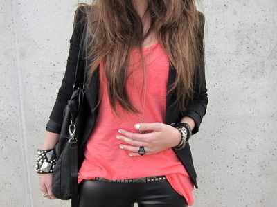bag, bracelets, brown hair, cute, fashion, girl