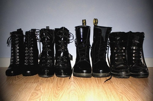 black, boots, cadarco, combat boots, coturno, goth, gothic, leather