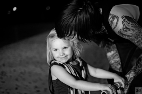 child, cute, deathcore, kenadee isis lucker, mitch lucker, suicide silence, tatoos
