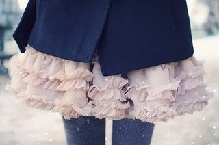 coat, dress, fashion, girl, pink, skirt, snow, tights, winter