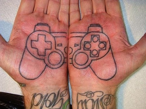 hands, is not xbox, play station, tattoo, x-box