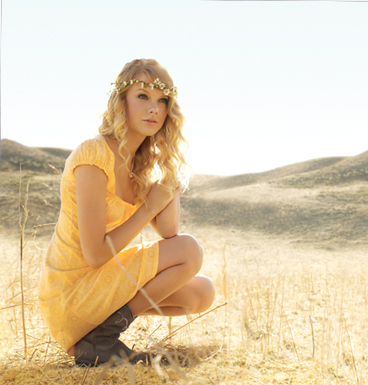 blonde, dress, flowers, girl, grass, hair, swift, taylor, yellow
