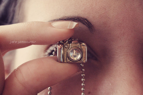 camera, eye, girl, nail, nails, necklace