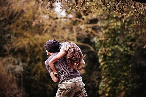 couple, cute, forest, love, trees, wilderness, woods