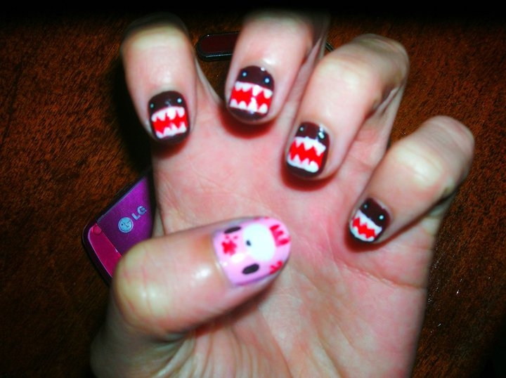 cute, domo kun, gamei nessa unha, gloomy bear, nails