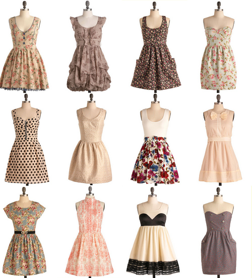 cute, dresses, runawaylove.blogg.no, sweet, vintage
