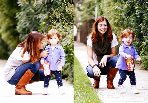 adorable baby, alyson hannigan, baby, cute, ginger, lovely, mother, red hair, redhead