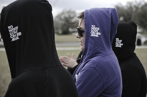black, boy, cute, girl, hoodie, inspiration, love, motivation, photography, purple, to write love on her arms, twloha