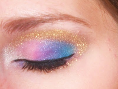 blue, eye, girl, gold, make up, make-up