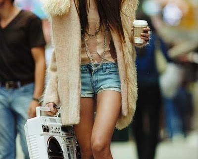 brunette, coat, coffee, fashion, girl, hair