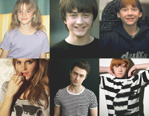 daniel radcliff, emma watson, harry potter, hermione, movies, ron
