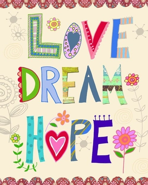 dream, girly, graphic, hope, illustration, love