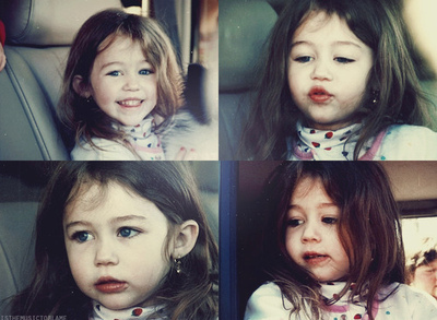 baby, cute, girl, miley cyrus, she was cute