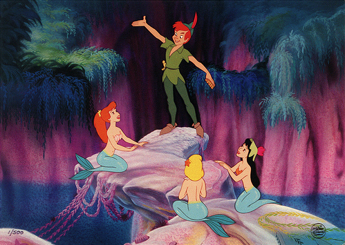 cartoon, disney, little mermaid, mermaids, neverland, peter pan