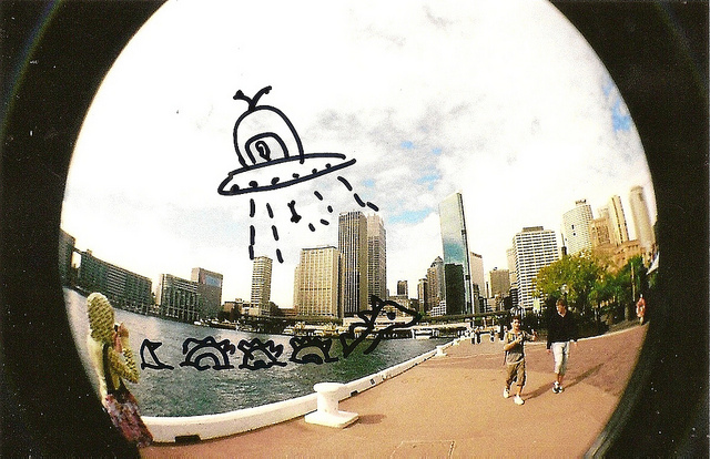 35mm, abduct, alien, drawing, film, fish eye