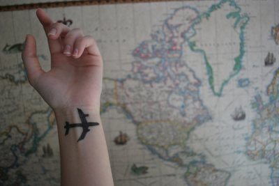 aaaa, airplane, map, plane, tattoo, wrist