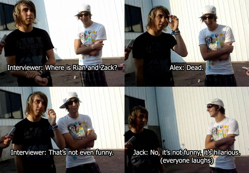 alex gaskarth, all time low, atl, funny, jack barakat