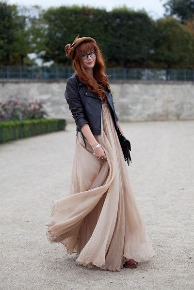 beautiful, beige, black, chiffon, cute, dress