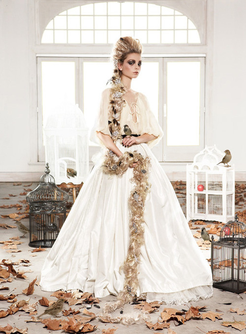 birds, cages, fashion, fashion photography, hair, makeup, princess, rapunzel