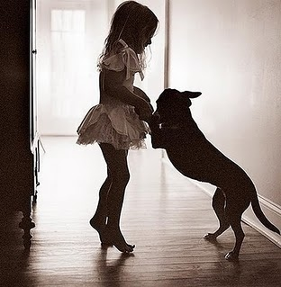 blonde, child, cute, dance, dog, dress, girl, kid, love, puppy
