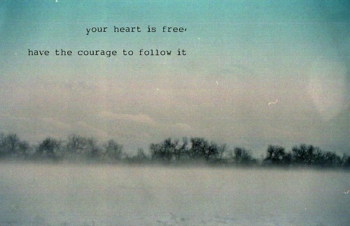 courage, heart, hearts, love, typography