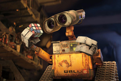 cute, robot, rubik cube, wall-e, walle