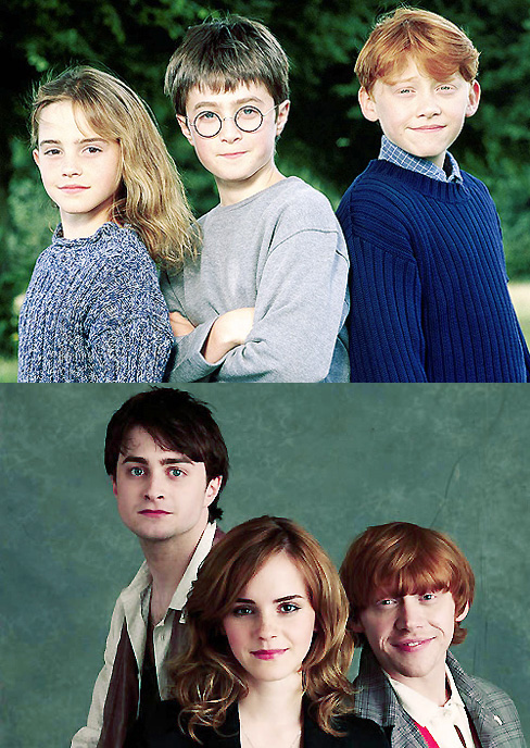 daniel radcliffe, emma watson, harry potter, rupert gorgeous, rupert grint