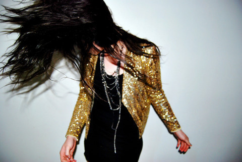 fashion, girl, gold, hair, sequins